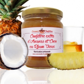 Confiture extra d'Ananas et Coco au Rhum vieux